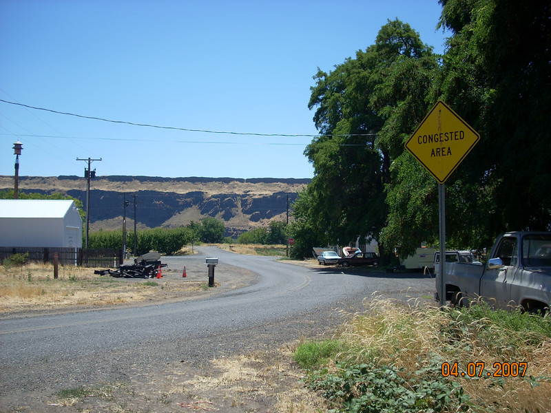 "ok I saw several of these ""Congested Area"" signs in OR and WA - I never saw a car or person in the area though!"