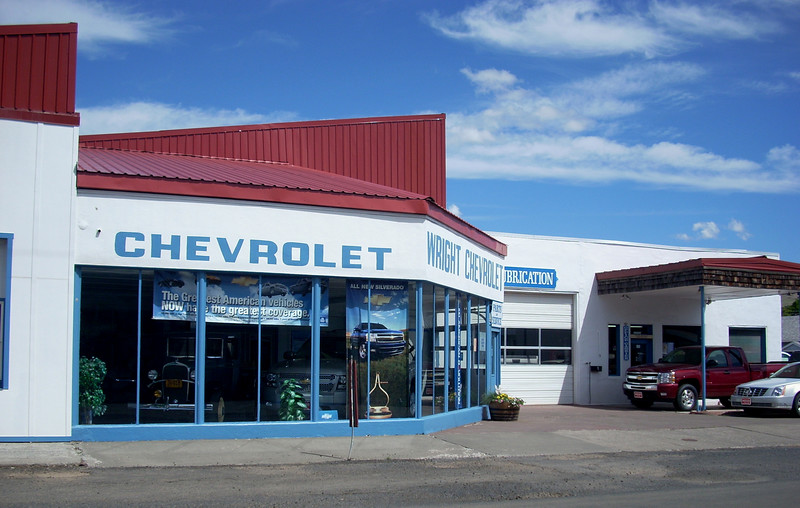 the smallest Chevy Dealer I have seen - Fossil OR
