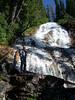 Joe up on the waterfall