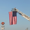 Flag displayed as motorcycles leave Somerset Pa.