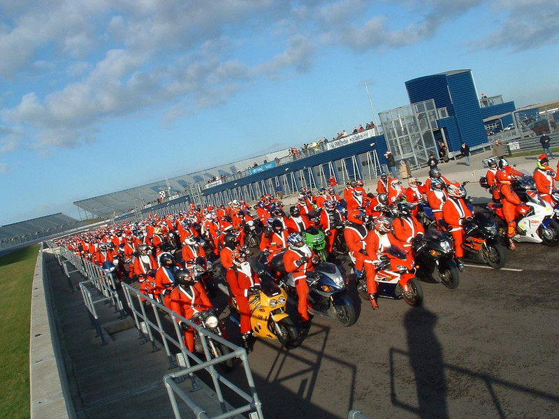 """SV1000 owners attend charity run at Rockingham race circuit.<br />  <a href=""""http://www.MotorcycleInfo.co.uk"""">http://www.MotorcycleInfo.co.uk</a>"""