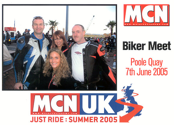 Another great night at Poole Quay with some mates from the SV1000 forum....made better by running into the MCN girlies :-)