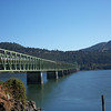Bridge crossing the Columbia River from Washington to Hood River Oregon. The steel mesh was fun with the Knobby tires.