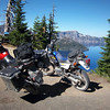 Big Orange and the DR200 at Crater Lake OR.