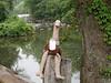 Pooey taking a break along the Brandywine River.