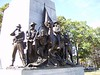 The base of the General Robert E. Lee statue along Seminary Ridge in Gettysburg