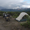 "My ""boondock camp"" along the Denali Road."