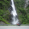 Bridal Veil Falls on road to Valdez.
