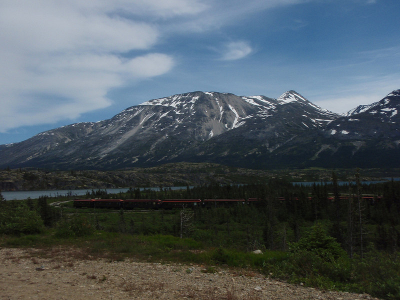 The excursion train near the top of White Pass.