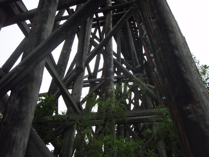 The old wooden trestle that served McCarthy and Kennicott Mine.