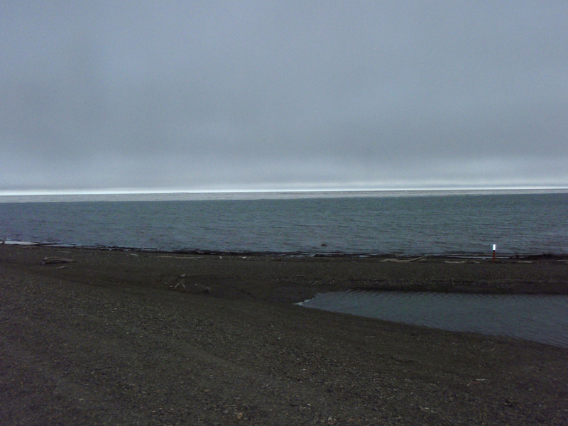 The ice shelf just off shore at Prudhoe Bay.