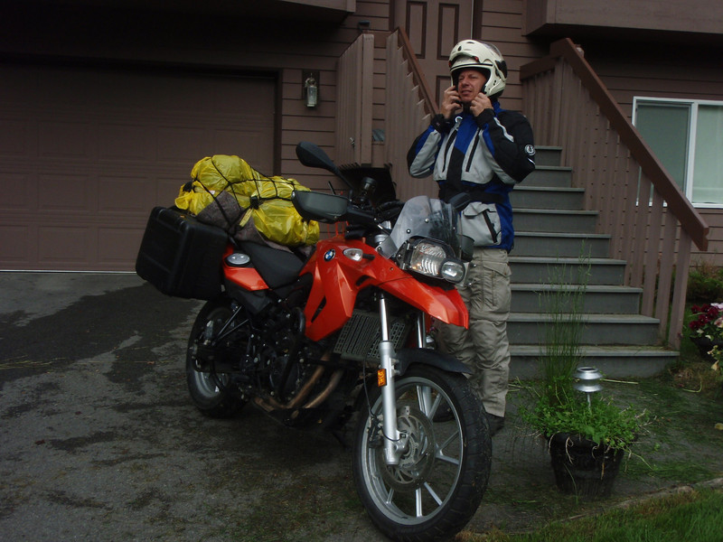 George and his BMW F650GS rental bike.