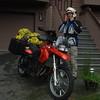 George and his BMW F650GS rental bike.