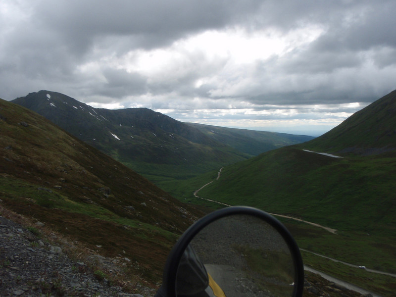 The road we came up on Hatcher Pass
