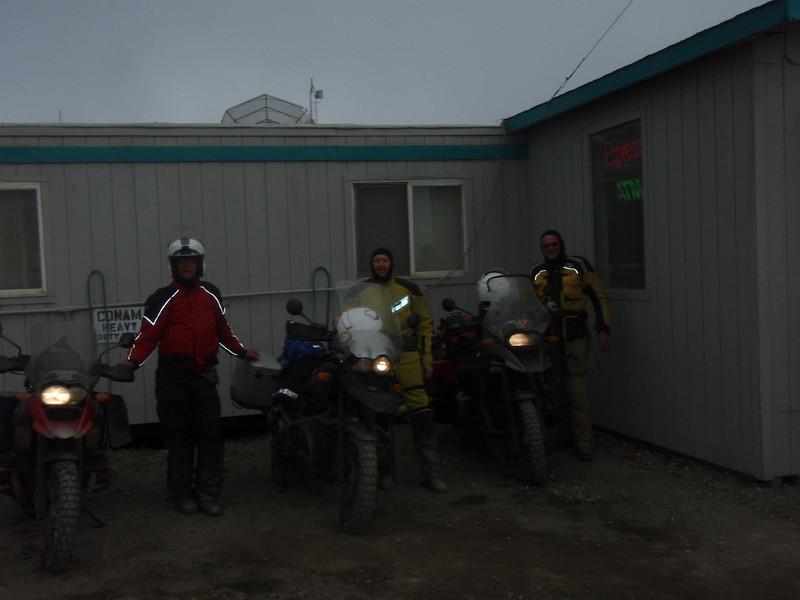 John, Mik, and Mack as we prepare to leave Prudhoe Bay/Deadhorse.