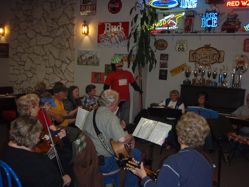 """""""Blue Grass"""" jam in Anchorage. Donna took me with her on Tuesday evening. It was fun, but they play real slow."""