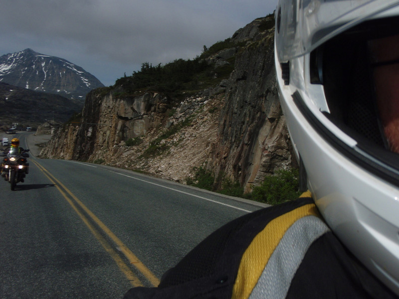 Mike behind me on White Pass.