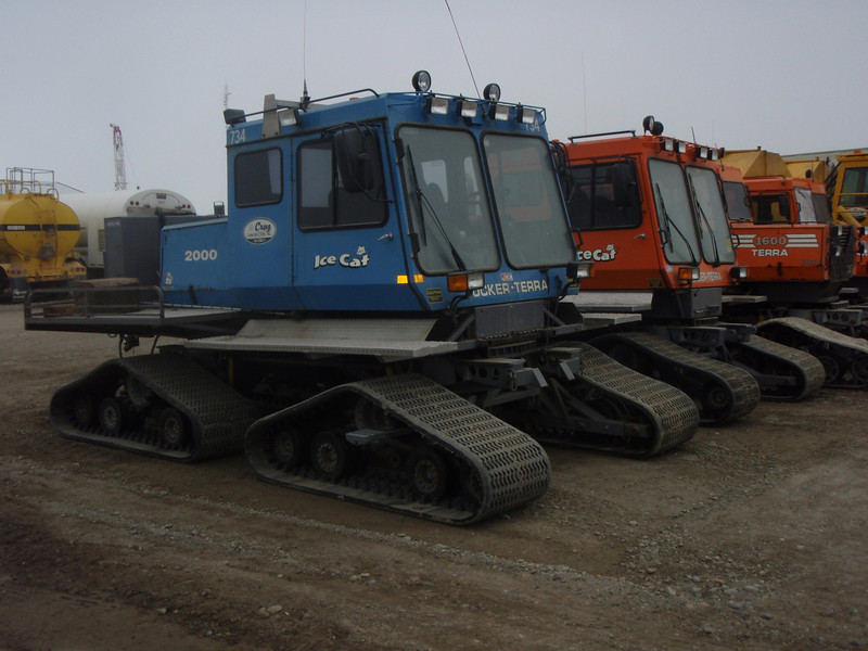 Lots of special snow machines around Prudhoe Bay.