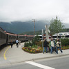 The White Pass and Yukon train in Skagway.