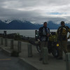My Brother, George flew into Anchorage, rented a BMW F650, and joined me for a few days riding.