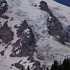 Zoom on one of Rainier's many glaciers.