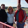 Steve, Elane and Dan at the top of the tower Sunday morning.
