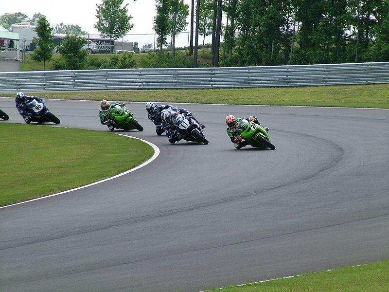 Supersport race leaders.