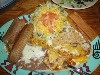 Monday, 12/29/08: Great Mexican food at the Cafe Santa Fe in Eureka Springs