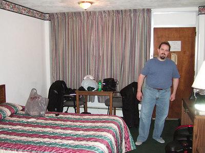 Brian in the hotel.