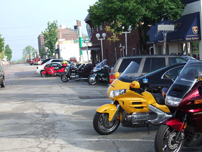 We knew we had the right place when we saw the number of motorcycles out front.