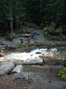 Creek crossing - bridge was washed out.