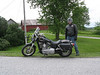 A man and his Harley.   Bill, you oughta take your helmet off the next time you want one of these shots taken.