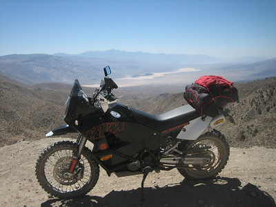 South pass on Saline Valley Rd. Looking down into Panamint Valley.