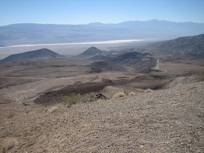 View from Father Crowley Point. Panamint Valley and portions of Hwy190 below.