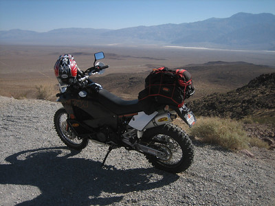 Hwy178 (Trona-Wildrose Rd.) overlooking Panamint Valley.