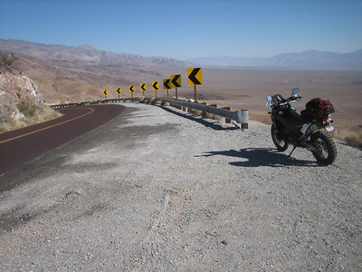 Hwy 178 (Trona-Wildrose Rd.) overlooking Panamint Valley.