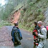 Landslip on Rocky River Road - it was still coming down!