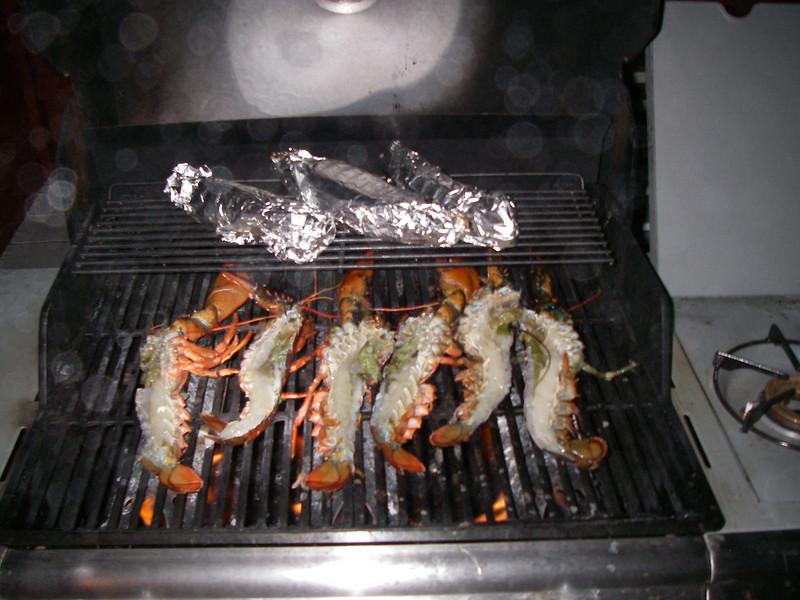 Grilled lobster.  Mmmmmm.