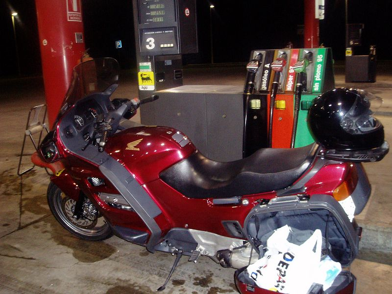 Heading from Madrid to Granada on a Honda ST1100 late at night.