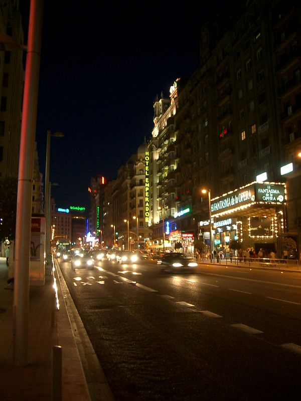 This is Gran Via (main street) where I stayed in Madrid