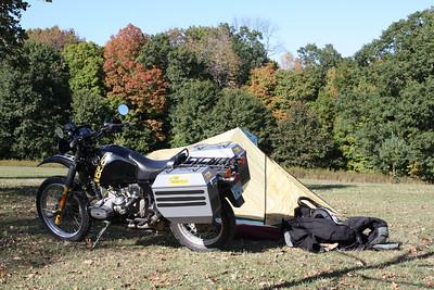 Gary's bike and tent.