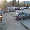 Filled Day Use only camping at Liard Hotsprings.