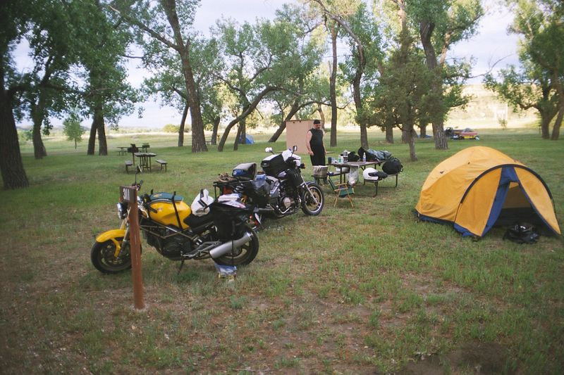 Medora campground, day 1