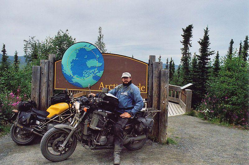 Me, Sabre, Ducati, Arctic Circle