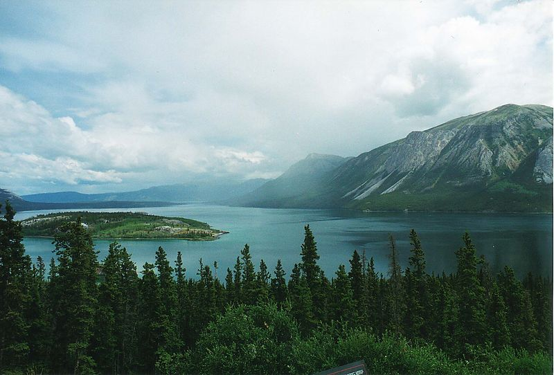 Carcross Lake on the road to Scagway