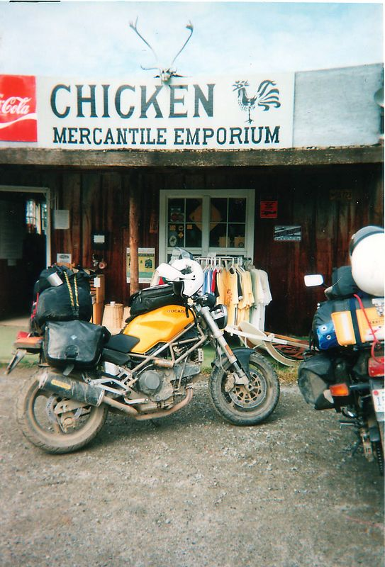 Ducati in Downtown Chicken, AK