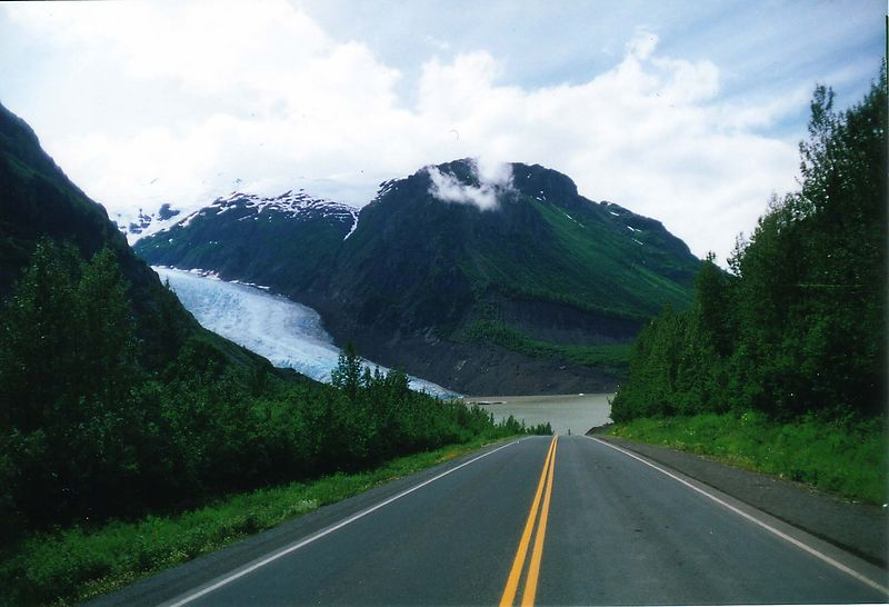 Bear Glacier on the road to Hyder, Ak