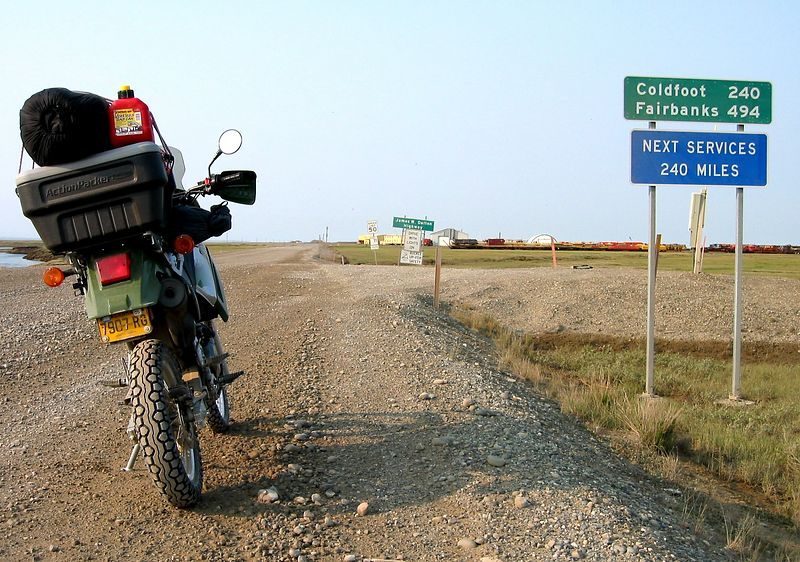 Starting the trip back south from Deadhorse.  Roadsigns don't get much better than this.
