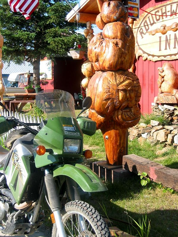 Spruce Burl carving in Nenana