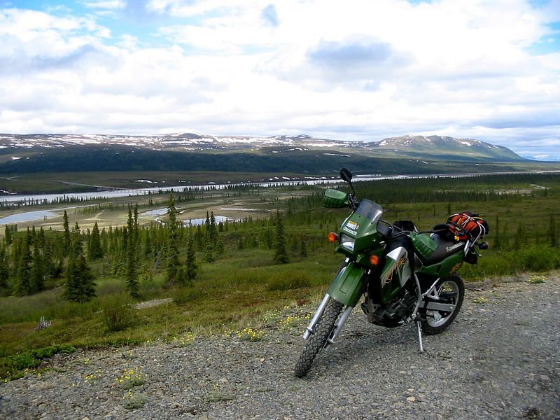 My first adventure trip.  This is along the Denali Highway just past the Susitna River Bridge.